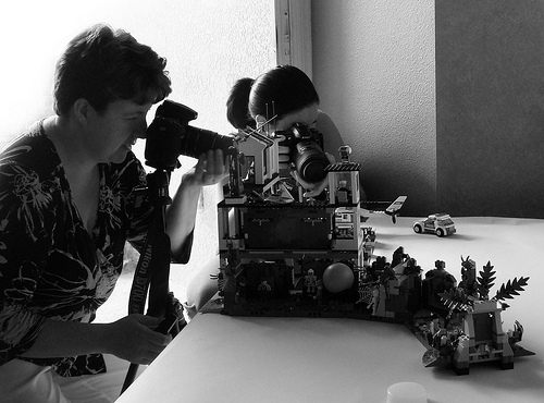 photographing legos